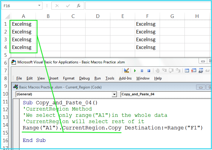Copy and Paste In Excel VBA