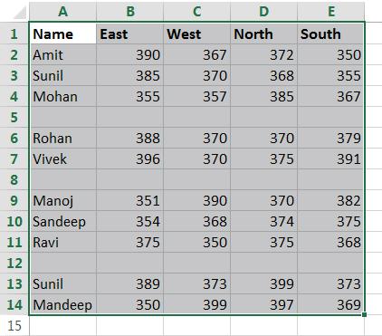 Delete Blank Rows In Excel