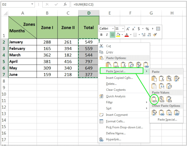 Remove Formulas and Keep the Values